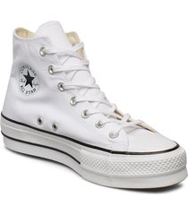 chuck taylor all star lift höga sneakers vit converse