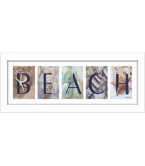 "trendy decor 4u beach by robin-lee vieira, printed wall art, ready to hang, white frame, 20"" x 8"""