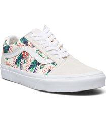 ua old skool låga sneakers vit vans