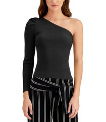 bar iii one-shoulder sweater, created for macy's