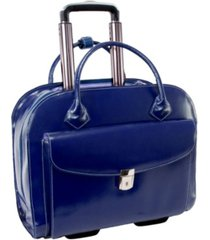 "mcklein granville, 15"" wheeled ladies laptop briefcase"