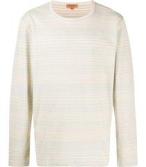 missoni striped-print crew neck sweatshirt - neutrals
