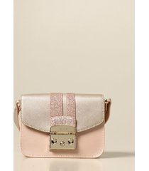 furla crossbody bags metropolis furla bag in pearled leather and glitter