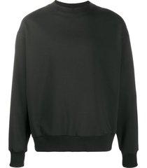 alchemy long-sleeve fitted sweatshirt - black