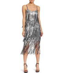 women's dress the population roxy fringe shift dress