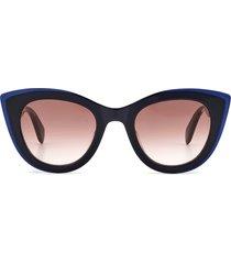 rag & bone 49mm gradient cat eye sunglasses in black /mauve/dark grey grad at nordstrom