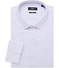 jenno slim-fit striped dress shirt