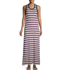 striped cotton tank dress