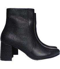 botas mujer botines cuero grabado color negro amme