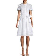textured cotton shirt dress
