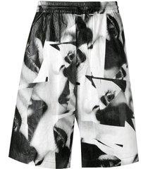 mert & marcus 1994 x dsquared2 eye printed shorts