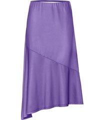 kjol med glansig look