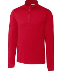 cutter & buck men's big & tall advantage zip mock sweatshirt