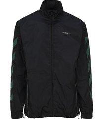 off white diagonals nylon jacket