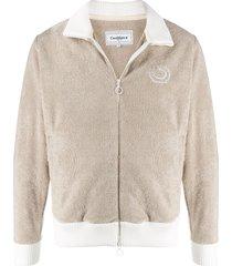 casablanca two tone fleece sweatshirt - neutrals