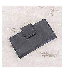 recycled rubber wallet, 'eco-friendly companion' (el salvador)