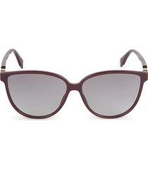 59mm squared cat eye sunglasses