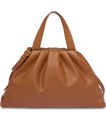 miu miu relaxed tote bag - brown