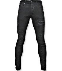 skinny jeans true rise ripped jeans - spijkerbroek versleten - d3080 -
