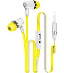 deportivos audífonos, jm21 3.5mm in-ear auriculares coloridos auriculares de alta fidelidad auriculares bajos auriculares de alta calidad para el teléfono (amarillo)