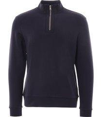 boss sidney zip-neck sweatshirt | dark navy | 50426074-402