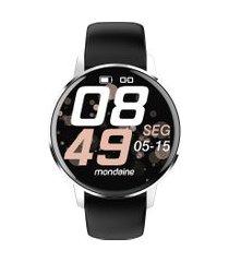 relógio smartwatch mondaine masculino - 41002m0mvni3 preto