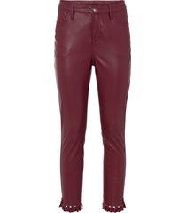 pantaloni in similpelle a vita alta (rosso) - bodyflirt boutique