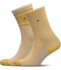 th women sock 2p lurex rib lingerie socks regular socks gul tommy hilfiger