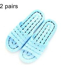 2 pares hombres y mujeres antideslizante baño ducha zapatillas sandalias para parejas adultas, talla: eu 36 / 37 (azul)
