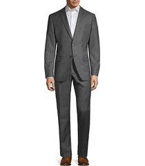 classic slim-fit wool blend suit