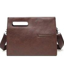 bolso de mano maletín unisex marrón millam