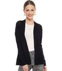 cardigan ash liso negro - calce regular