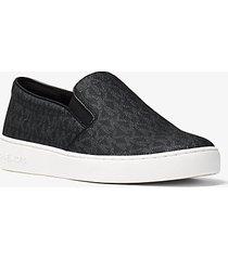 mk sneaker slip-on keaton con logo - nero (nero) - michael kors