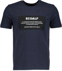ecoalf t-shirt - modern fit - blauw