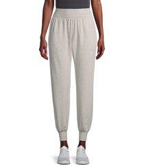 spiritual gangster women's high-waist cotton-blend jogger pants - medium heather - size xs