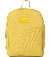 mochila de cuero amarilla merope party