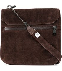 as2ov textured shoulder bag - brown