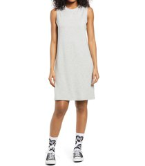 bp. french terry tank dress, size small in grey light heather at nordstrom