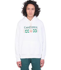 casablanca sweatshirt in white cotton