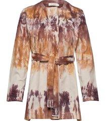 magenta blouse lange mouwen multi/patroon rabens sal r