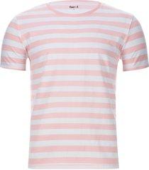 camiseta a rayas 2 colores color naranja, talla s