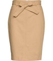 fina 55 skirt knälång kjol beige andiata