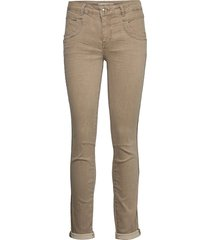 naomi clay jeans slim jeans bruin mos mosh