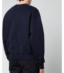 ami men's oversized de coeur logo sweatshirt - navy - xxl