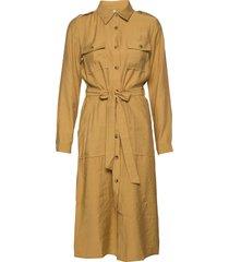 pzstella dress knälång klänning gul pulz jeans