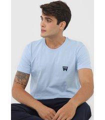 camiseta wrangler logo azul