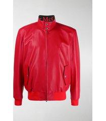 alexander mcqueen leather zip jacket