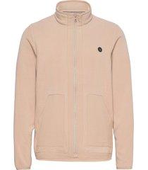 aktom fleece cardigan sweat-shirts & hoodies fleeces & midlayers beige anerkjendt