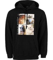 i love cats oversized hoodie, black