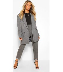 flanneled oversized dad blazer, grey